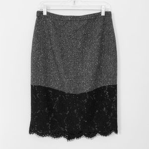 """J. Crew Wool Lace """"The Perfect Party"""" Pencil Skirt"""